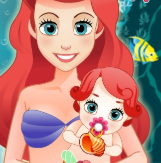 Play Mermaid Ariel Give Birth to a Baby Game