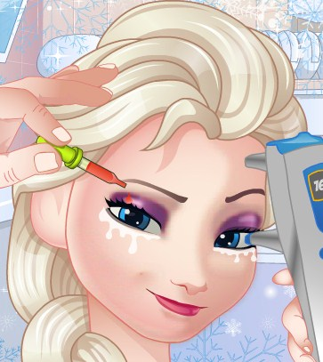 Play Elsa Eye Doctor Game
