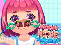 Play Funny Nose Surgery Game