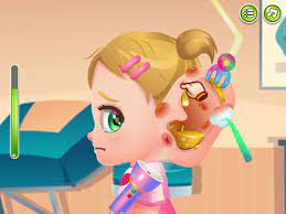 Play Baby Cathy Ear Problem Game