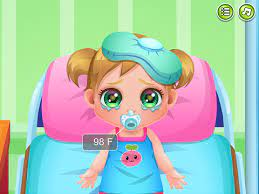 Play Baby Cathy Goes Sick Game