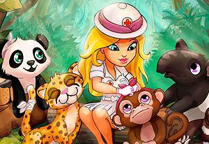 Play Cute Jungle Hospital Game
