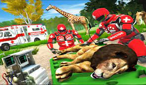Play Real Doctor Robot Animal Rescue Game